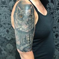 Eule Cover up done by Basti